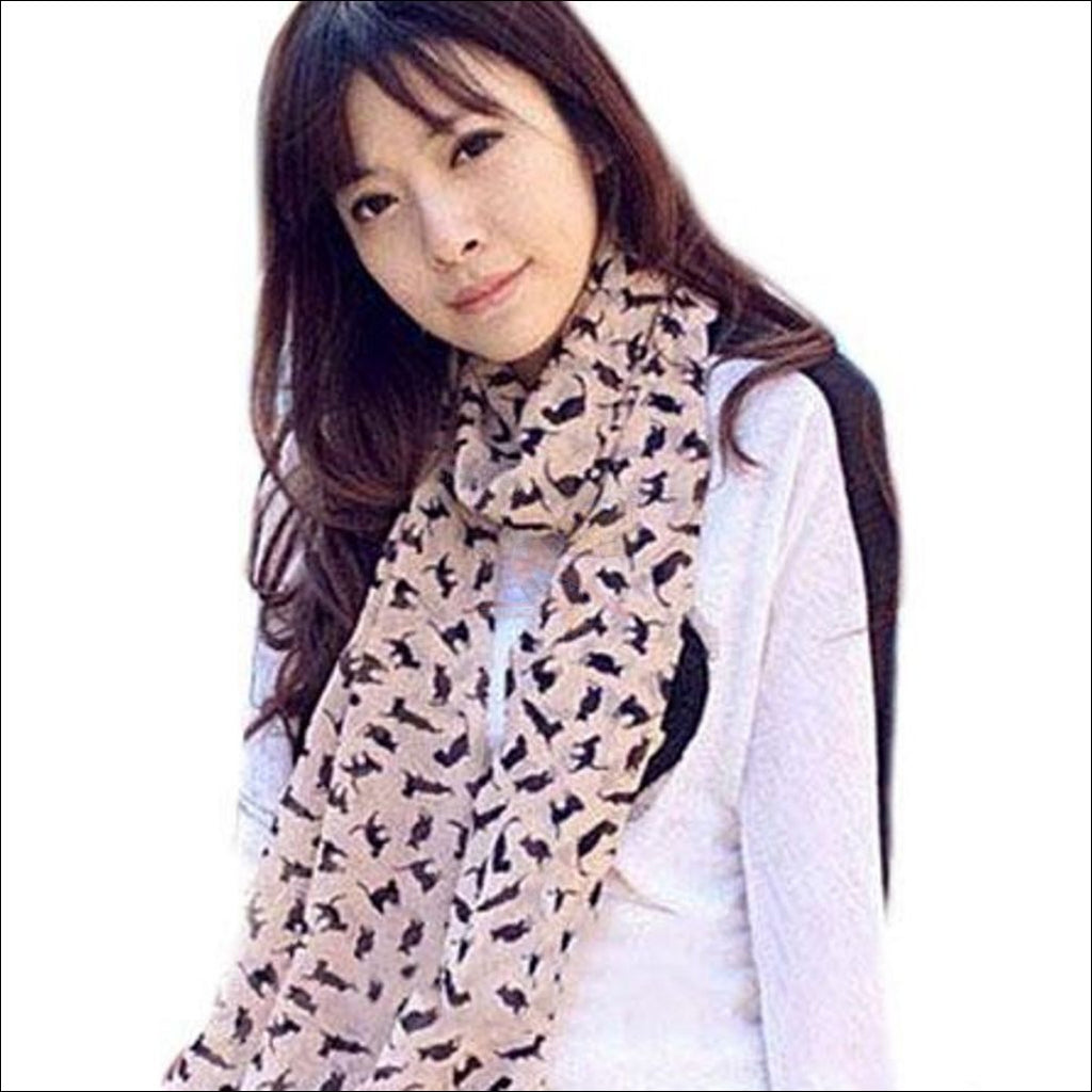 Sweet Chiffon Cartoon Cat Scarf (Free Shipping)