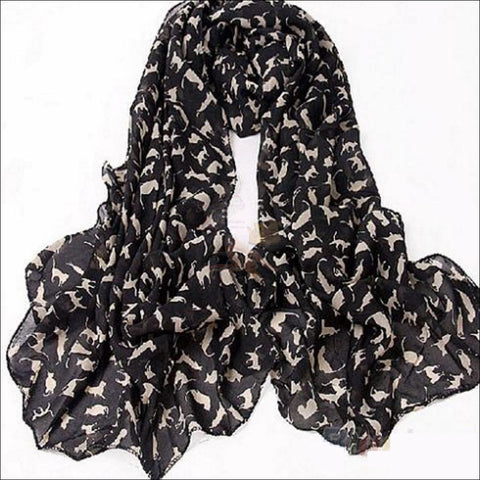 Sweet Cat Neck Scarf- Best Chiffon Scarf Sexy Black By Blissfactory Pet Supplies