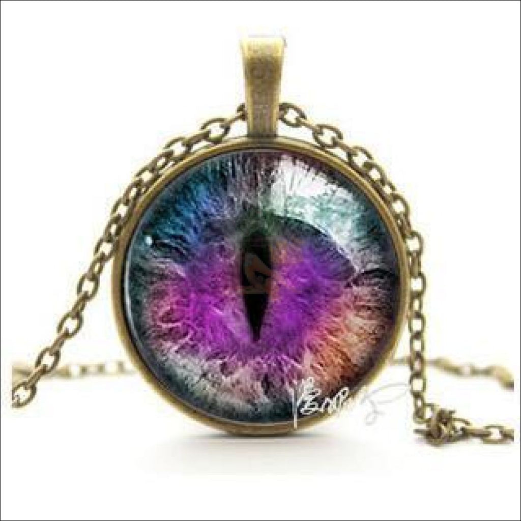 The Magic Cat Eye Pendant Necklace | Charm Necklace 46 By Blissfactory Pet Supplies