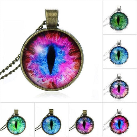 The Magic Cat Eye Pendant Necklace | Charm Necklace Different colors By Blissfactory Pet Supplies