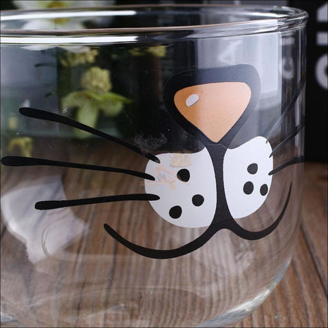 Image of  Funny Cat Snout Glass Coffee Mugs | Teacup Design By Blissfactory Pet Supplies
