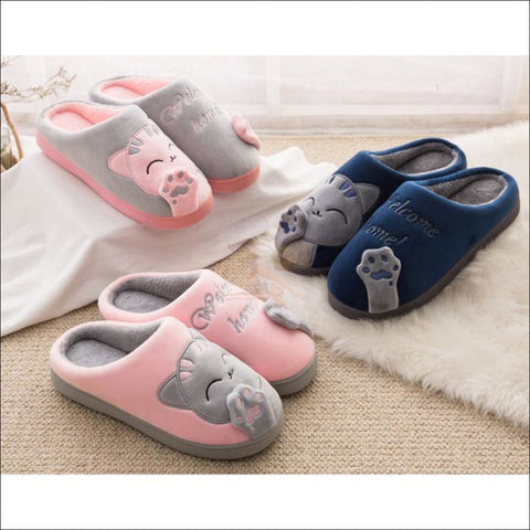 Image of Warm Winter Cat Paw Slippers For Men And Women (Couple Promotion!)