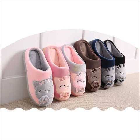Warm Winter Cat Paw Slippers For Men And Women (Couple Promotion!)