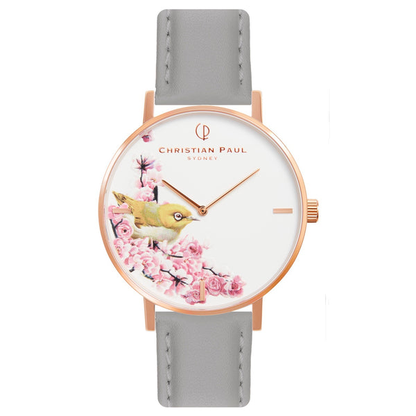 Montre Christian Paul - Oiseau Cuir Gris