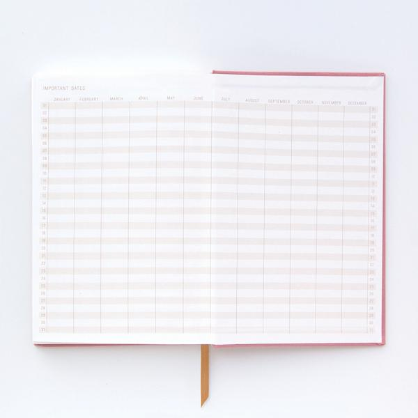 Cahier de Notes Pretty Thoughts Dates Importantes