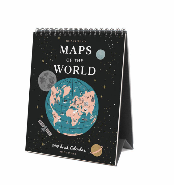 Calendrier 2019 - Maps of the World
