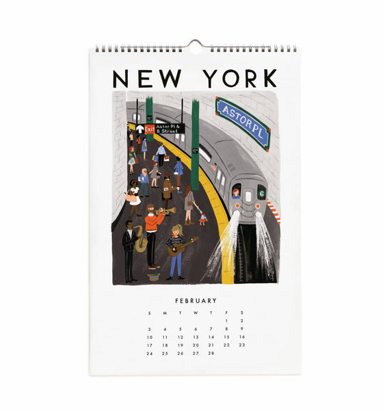Calendrier 2019 - World Traveler February