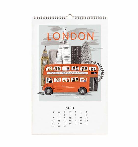 Calendrier 2019 - World Traveler April