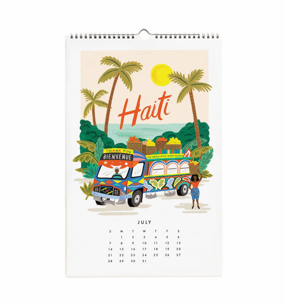Calendrier 2019 - World Traveler July