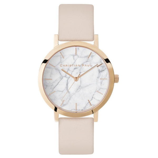 Montre Christian Paul - Marbre Cuir Rose