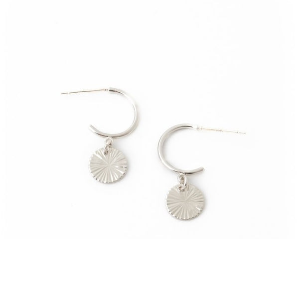 Boucles d'oreilles Everly Circle Silver