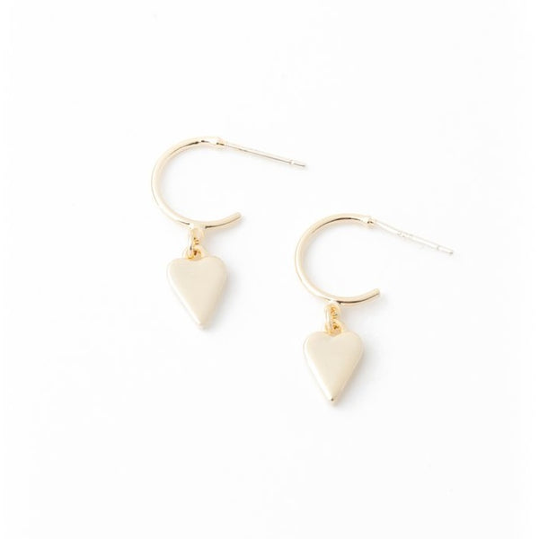 Boucles d'oreilles Everly Heart Gold