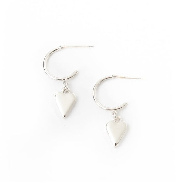 Boucles d'oreilles Everly Heart Silver