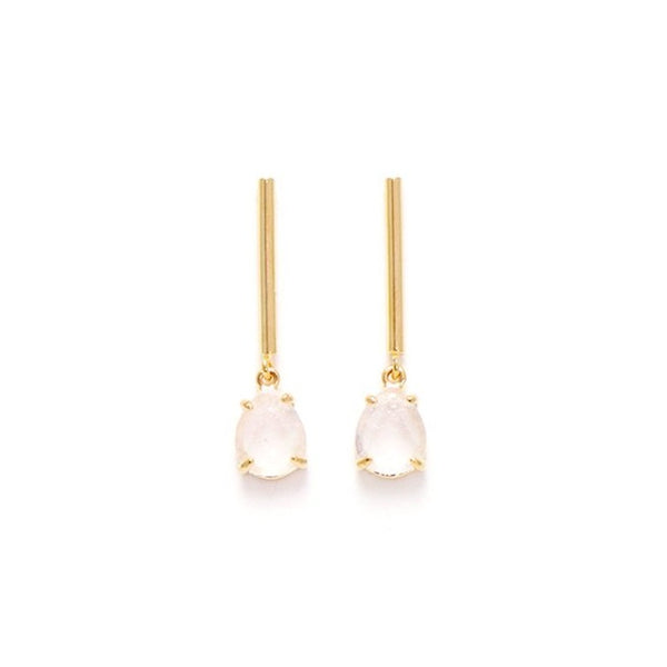 Boucles d'oreilles Grace Drop White