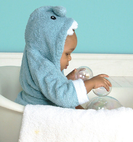 Blue Shark Hooded towel