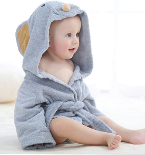 Grey Mouse Hooded towel