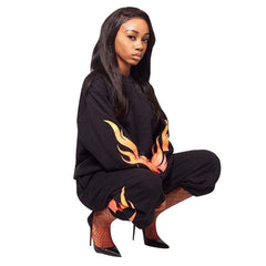 Flames On Flames Sweat Set
