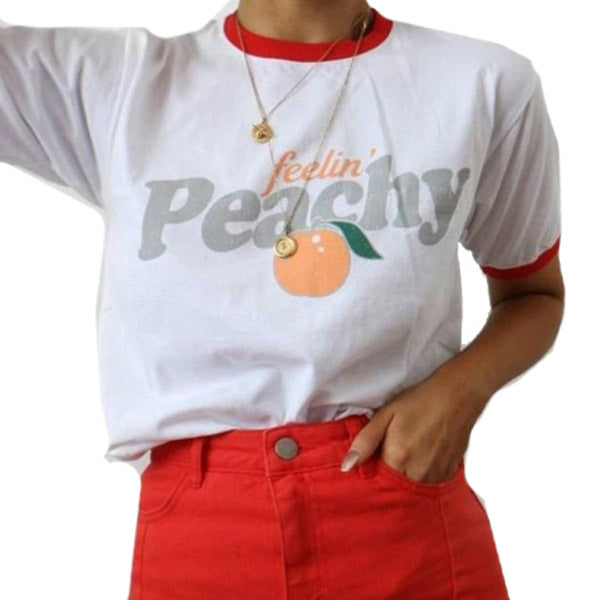 Eat A Lot of Peaches Tee