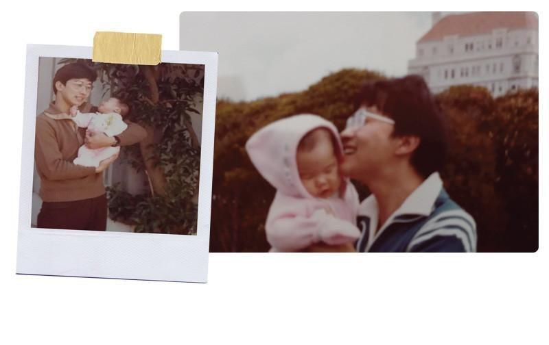 Fathers Day love is project happiness vintage photo family unity