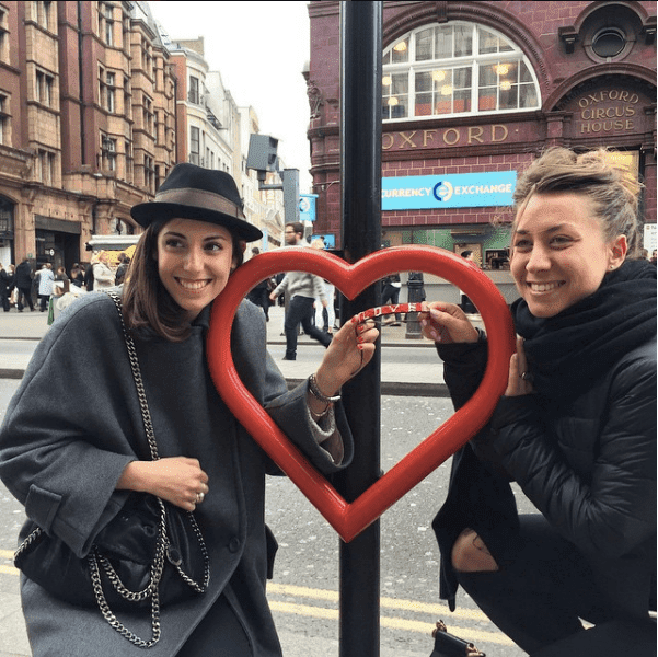 love is project original love bracelet in London happy women