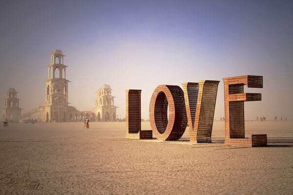 Burning Man Art Love Is project