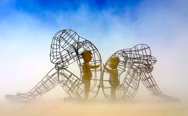 Burning Man Art Love