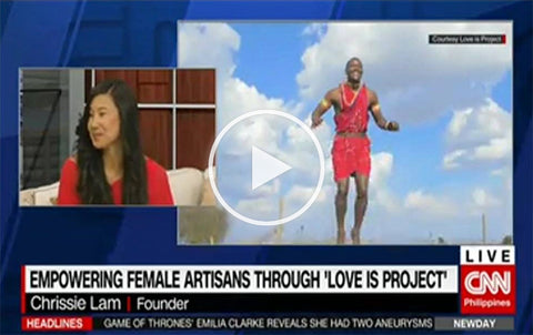 Founder Chrissie Lam featured on CNN Philippines, representing Love Is Project