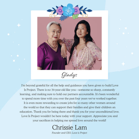 Gladys Lam and Chrissie Lam Love Is Project Love Pop cards