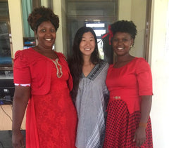 love is project happy artisans in kenya with founder chrissie lam in the middle