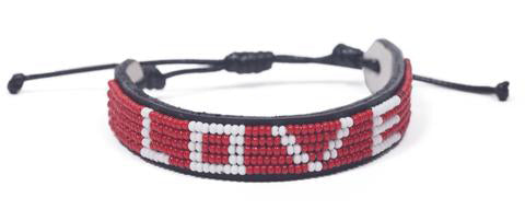 Original RED Love is Project bracelet by Kenyan Artisans