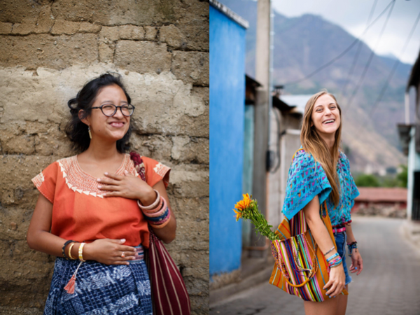 Love Is Project bracelets worn by women in Guatemala
