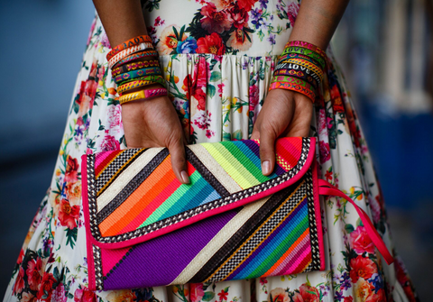 Love Is Project Cartagena bracelets and clutch