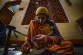India artisans beading - Love Is Project