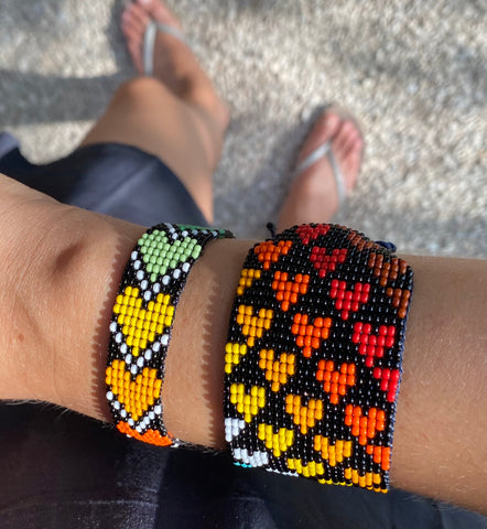 Colombia Love is Project Over the Rainbow hearts bracelet