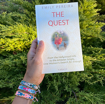 Emily Pereira - The Quest book and retreat - Love Is Project love bracelets friendship bracelets