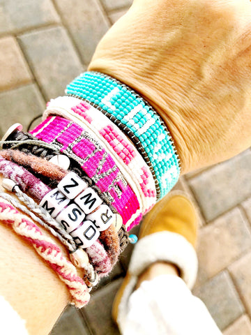 Love Is Project LOVE bracelets