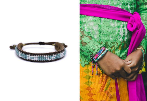 skinny love bracelet by artisans in Ecuador Love Is Project pay it forward