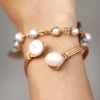 El Nido Pearl Bracelet back view hand made in the Philippines. Love Is Project creates jobs for artisans worldwide.
