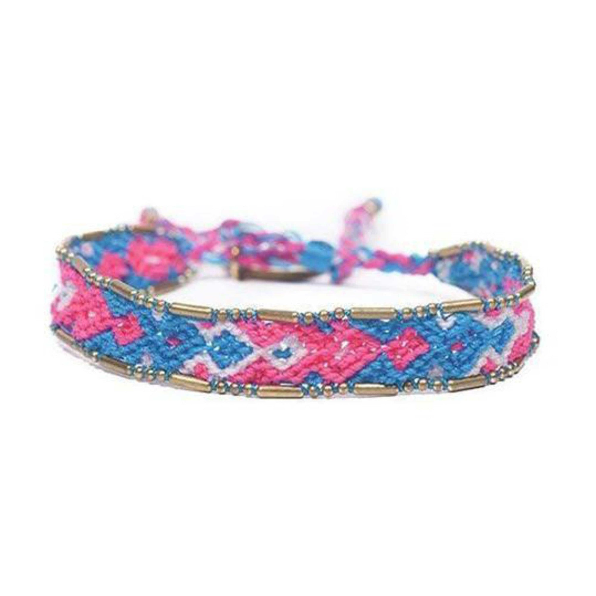 Bali Friendship Bracelet - Electric Love Love Is Project woven bracelets by artisans in Indonesia. Beaded bracelets creates jobs.