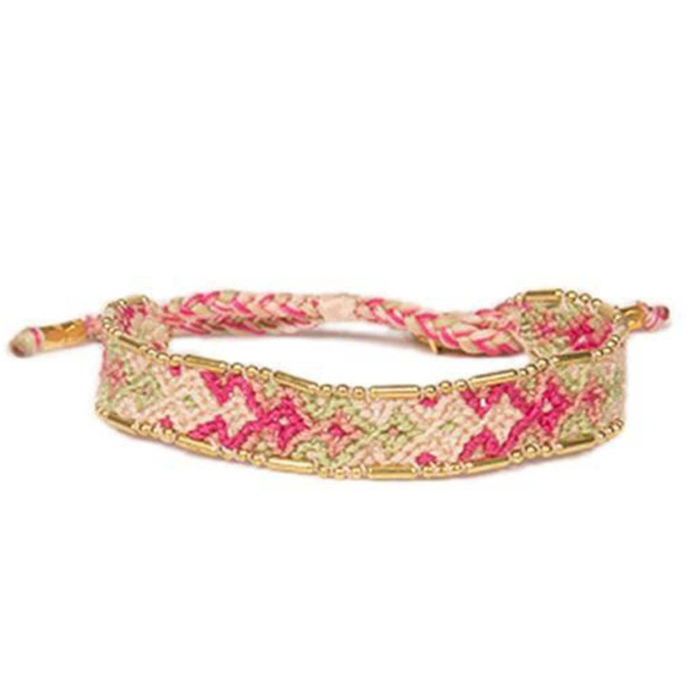 Bali Friendship Bracelet - Bloom Daisy woven bracelets by artisans in Indonesia for Love Is Project. Beaded bracelets creates jobs.