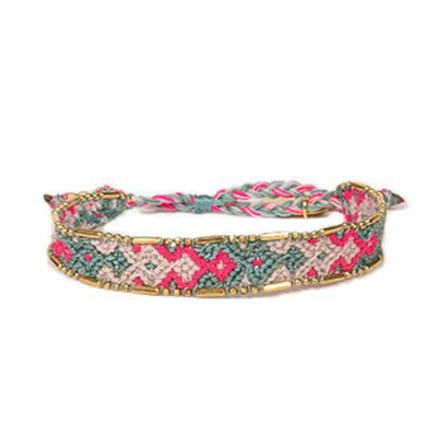 Bali Friendship Bracelet - Canyon Mist Love Is Project woven bracelets by artisans in Indonesia. Beaded bracelets creates jobs.