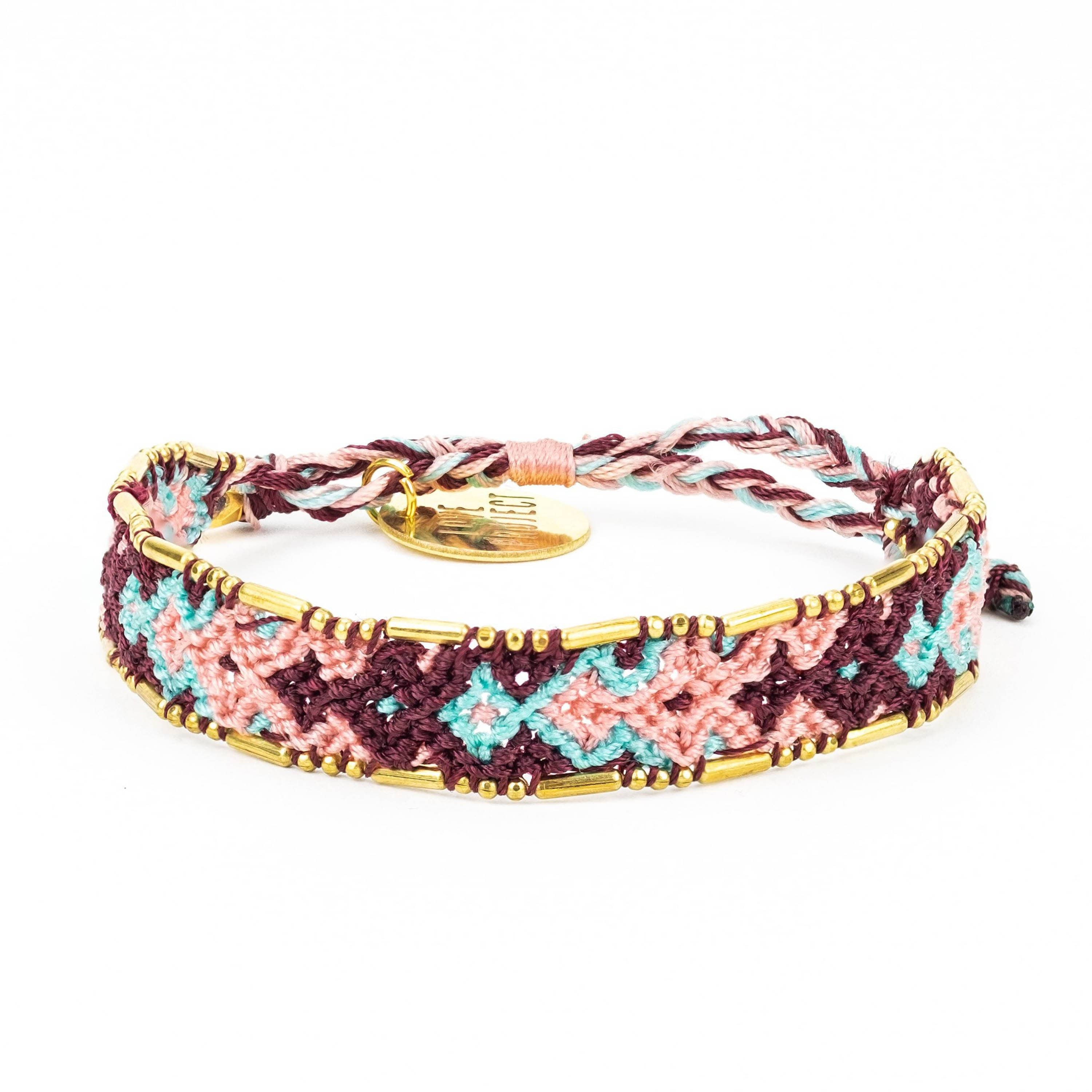 Bundle - Sunset Friendship Bracelets woven beaded Love Is Project bracelets made by female artisans in Bali, Indonesia. Creates jobs