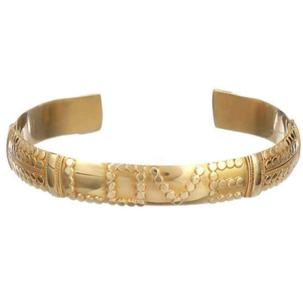 Alchemy LOVE Bracelet - Gold Medium