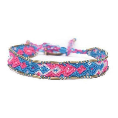 Bundle - Electric Friendship Bracelets woven beaded Love Is Project bracelets made by female artisans in Bali, Indonesia. Creates jobs