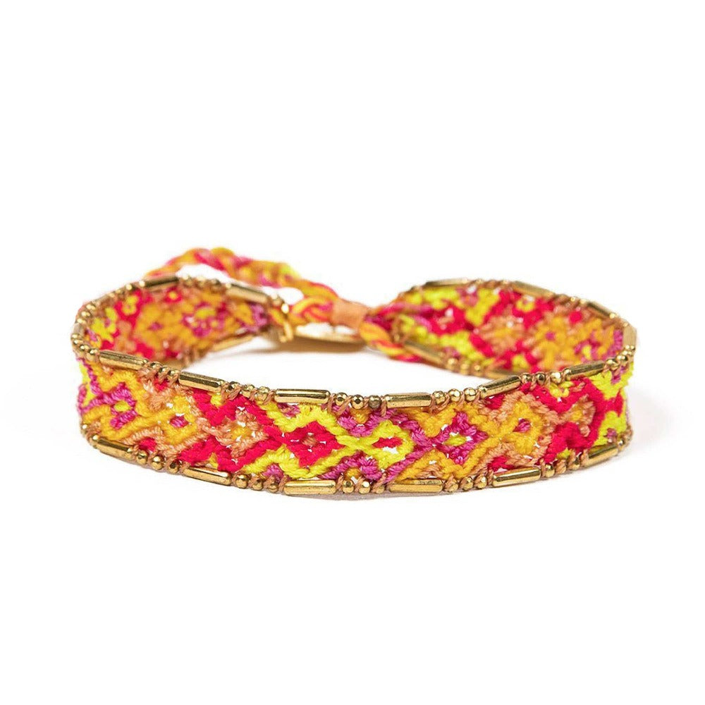 Bali Friendship Bracelet - Red, Orange & Yellow