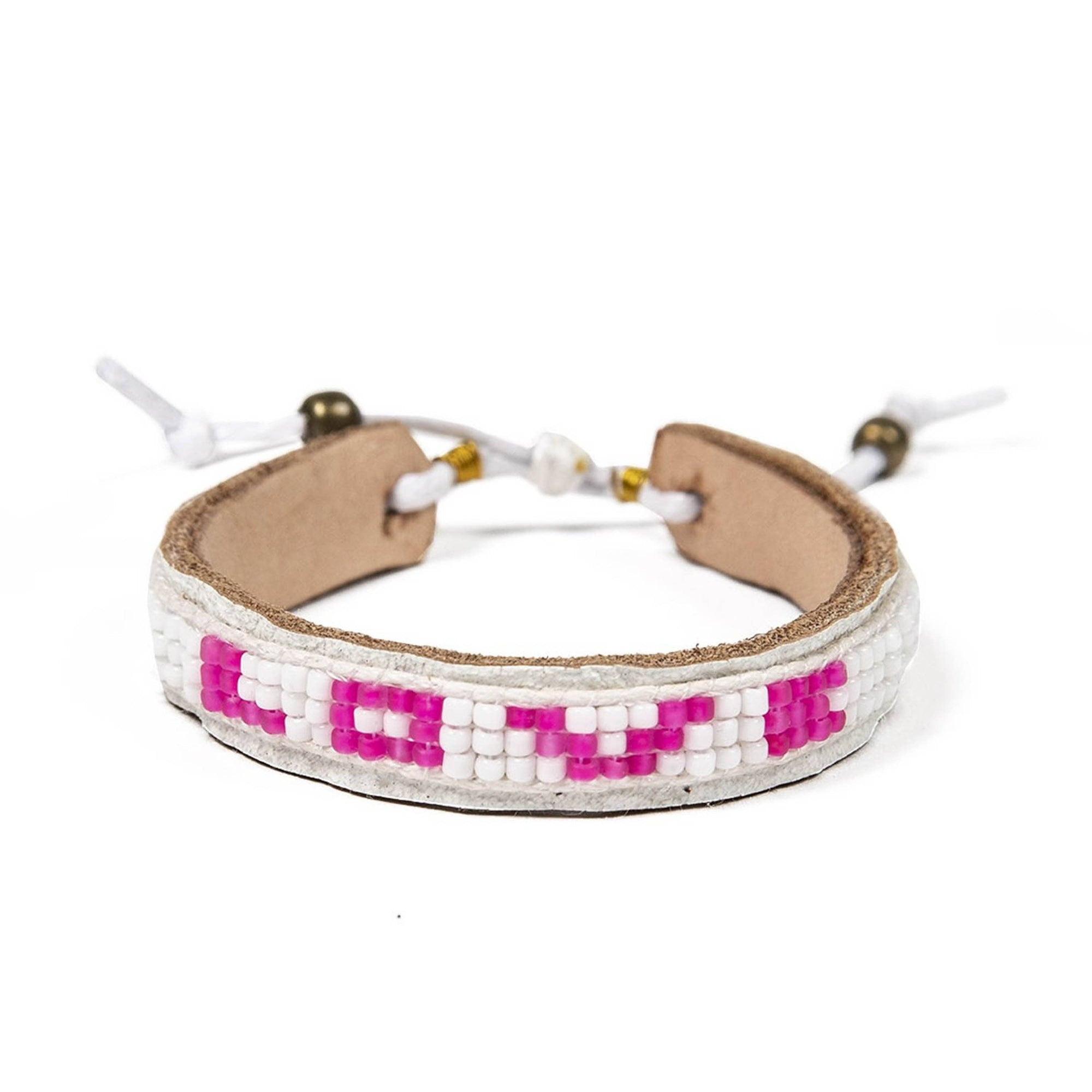 Pretty in Pink Skinny Bracelet - White & Pink