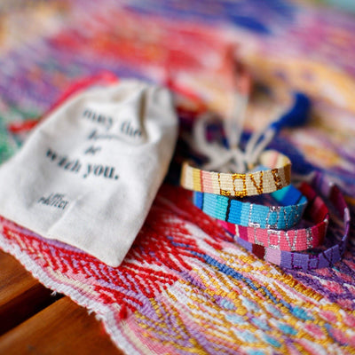 Atitlan Love Is Project Bracelet - Hand woven by artisans in Guatemala. Creates Jobs