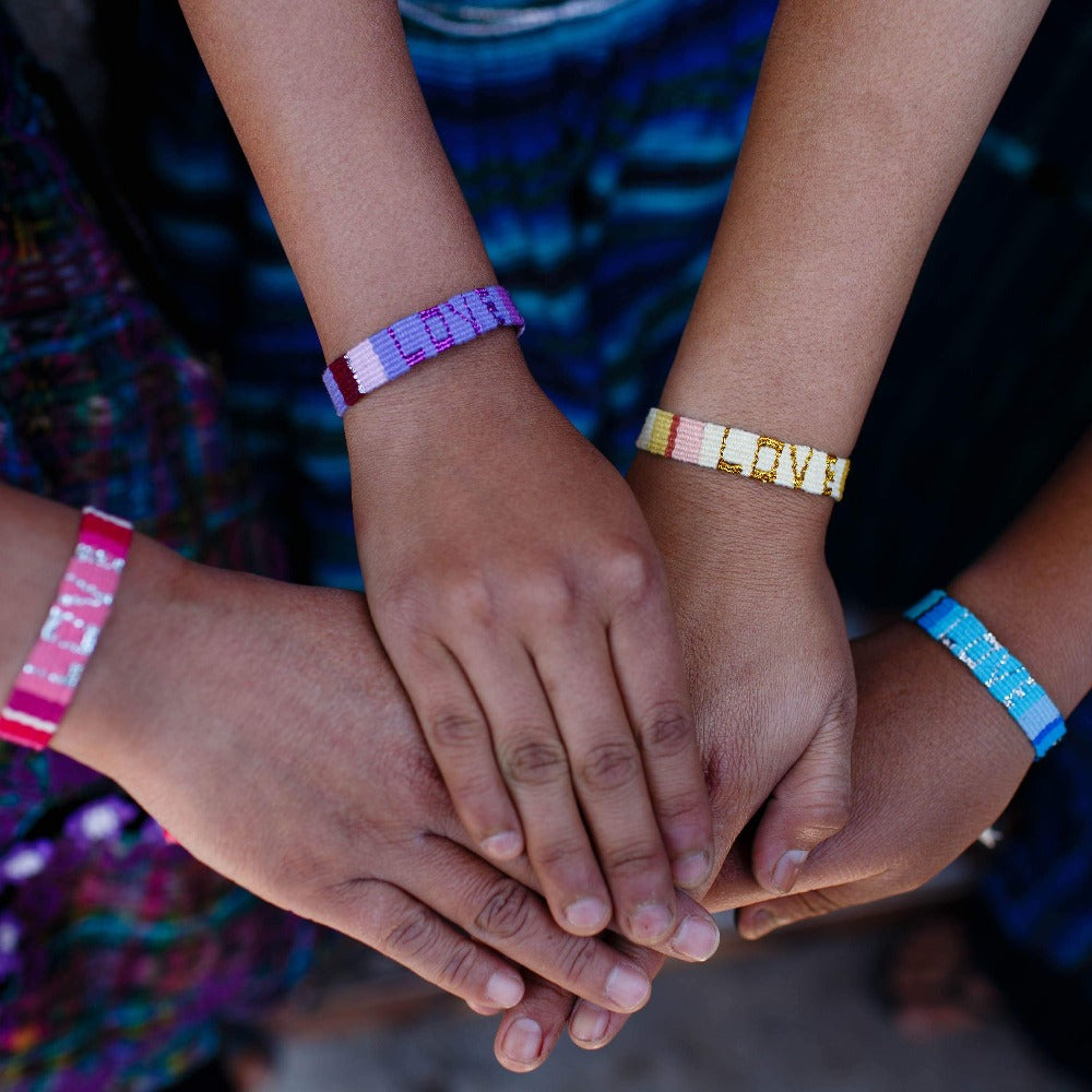 ATITLAN LOVE BRACELET - PURPLE & VIOLET - Love Is Project