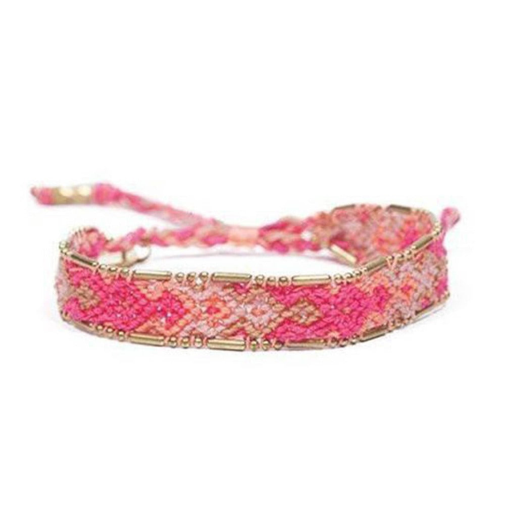 Bali Friendship Bracelet - Fire Sand Love Is Project woven bracelets by artisans in Indonesia. Beaded bracelets creates jobs.