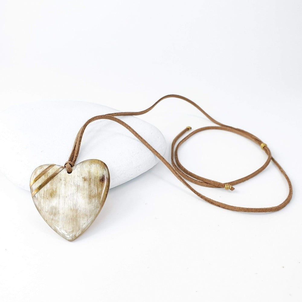 New Engravable Open Your Heart Necklace - Natural